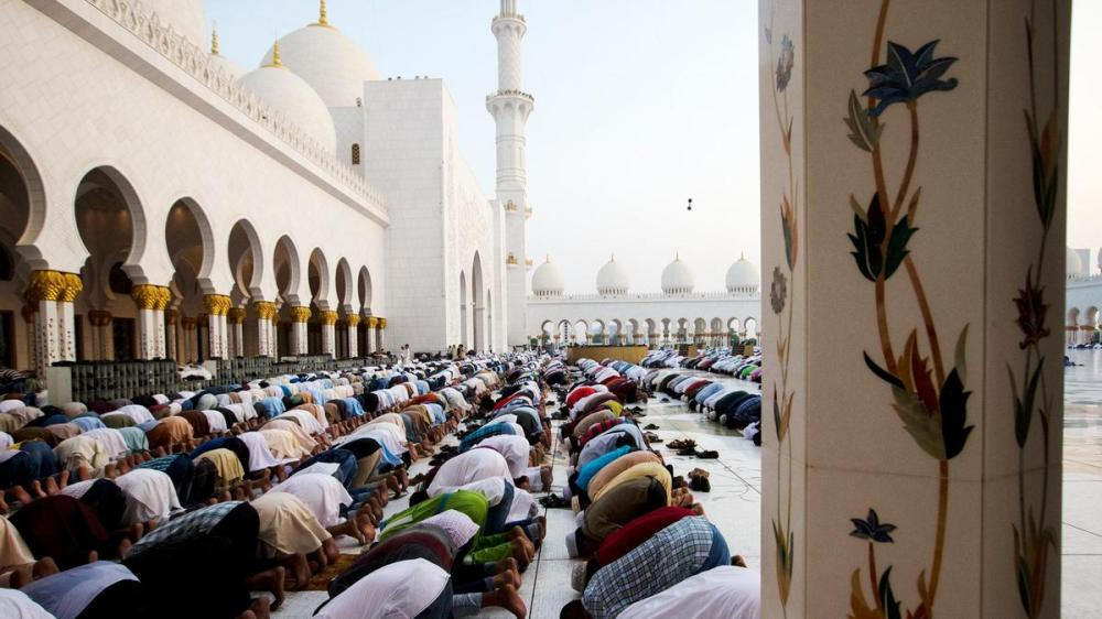 People praying at mosque