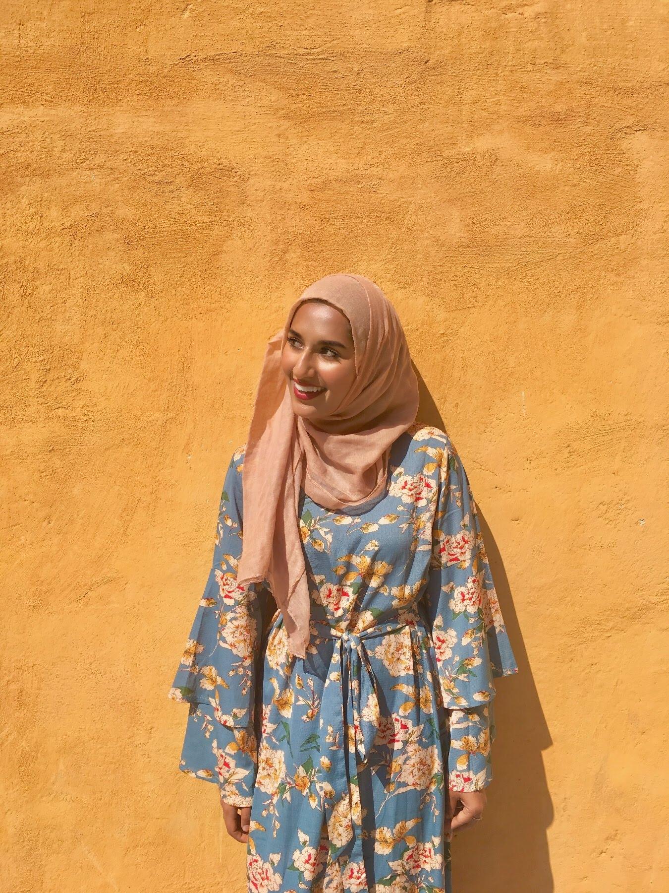 Floral Blue dress from Shein Rafa Farihah Glowing